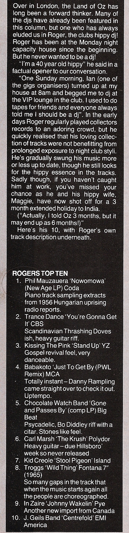 Roger The Hippie Top Ten