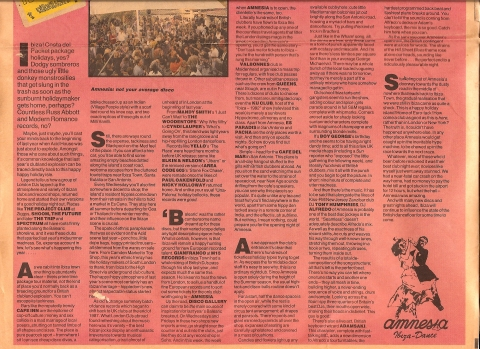 Amnesia July 1989 - 2