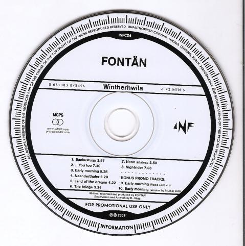 Fontan Promo CD