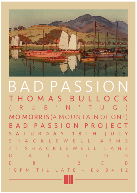 Bad Passion July Flyer