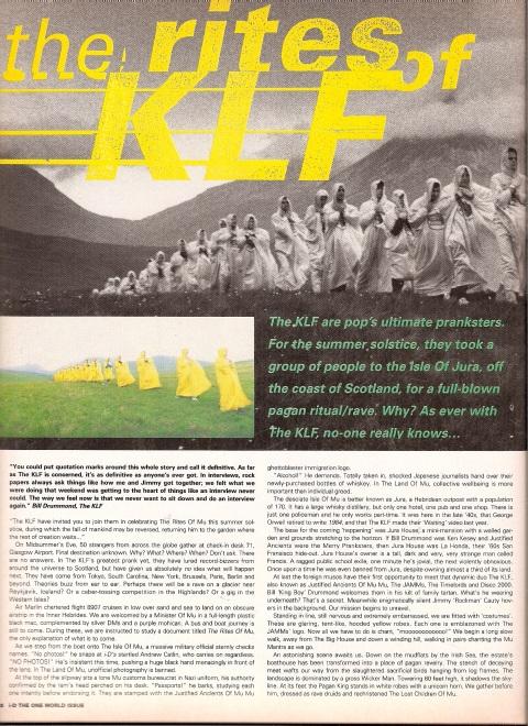 KLF i-D Magazine