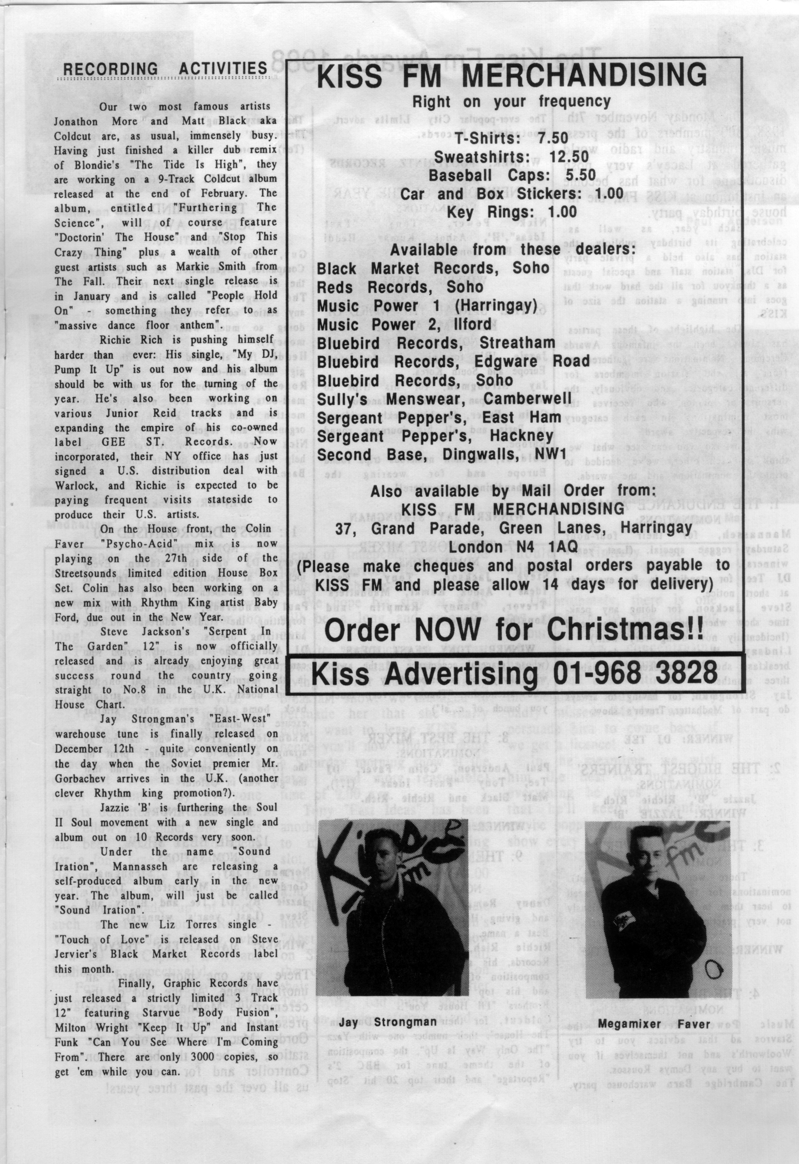 Back In The Pirate Days / Kiss 94 Newsletter / Test Pressing