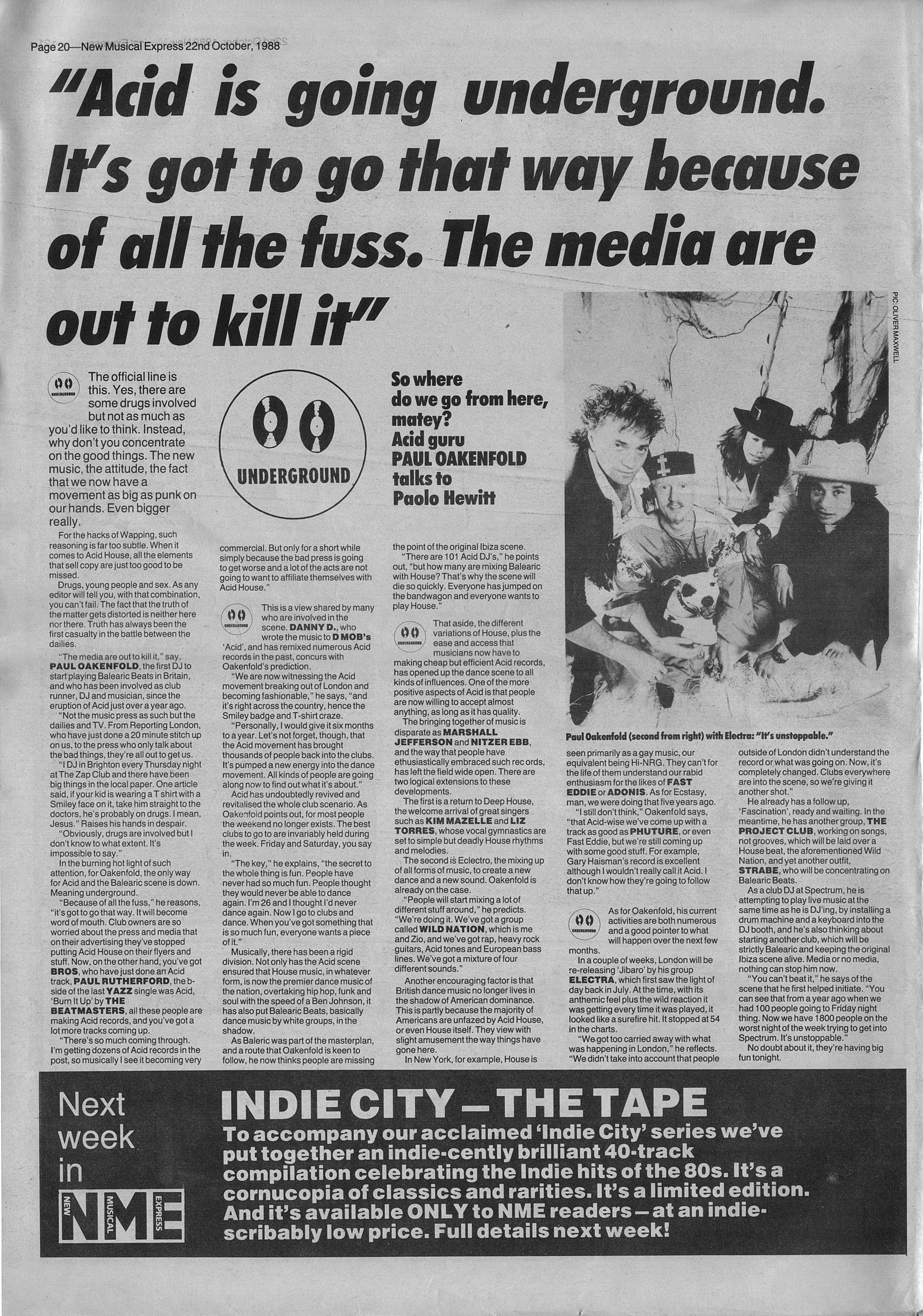 Acid house test pressing for Acid house 1988